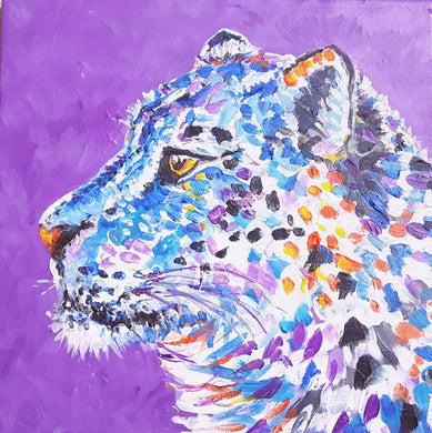 snow leopard,animal,colourful,animal art,magical