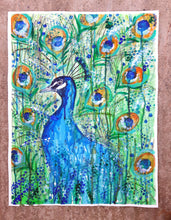 "Original painting ""Peacock mess"" - Marily's Art Nest"