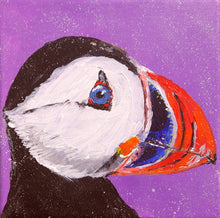 puffin,puffin painting,bird,bird painting,cute,colourful