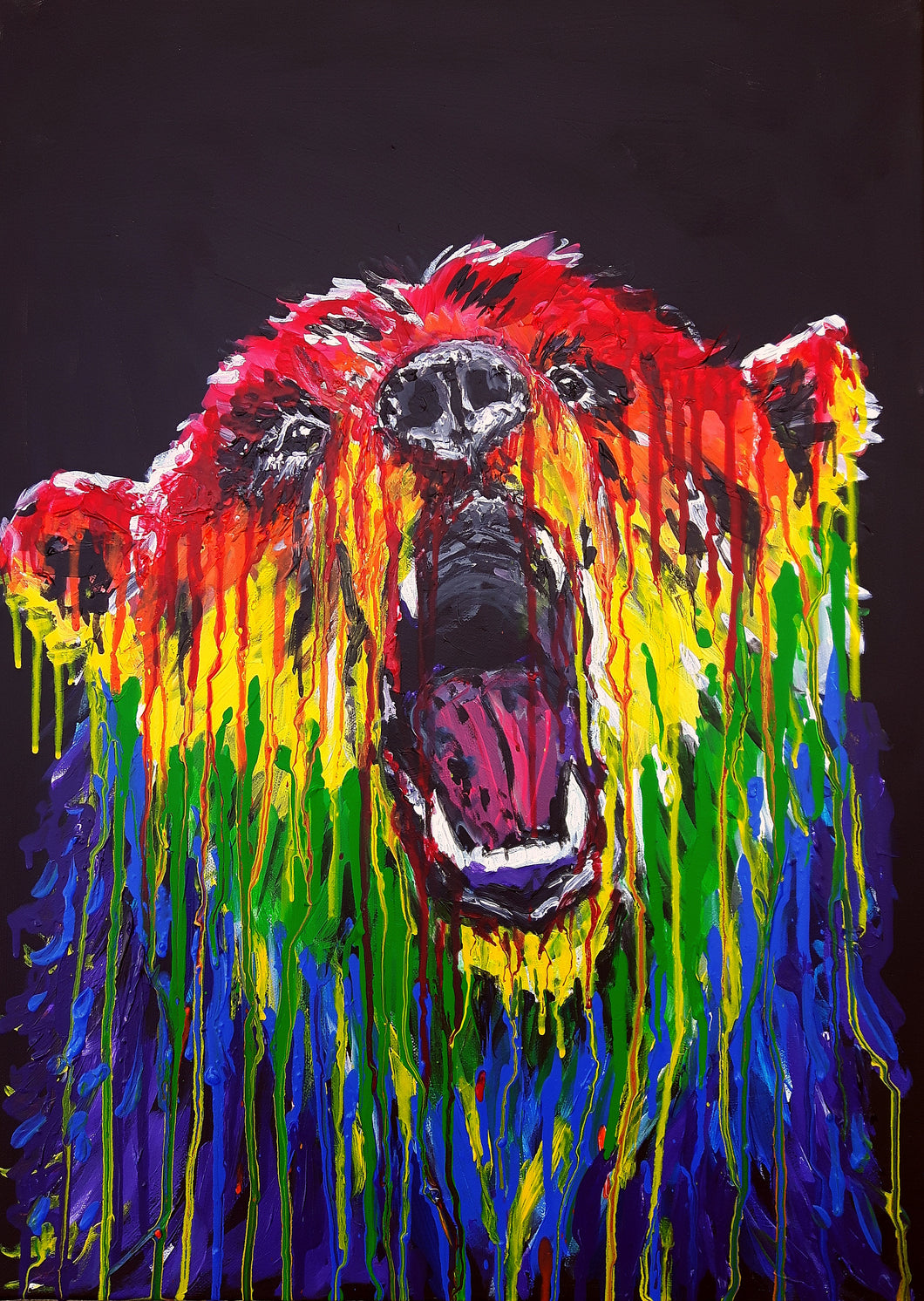 bear,bear painting,rainbow,rainbow colours,rainbow animal,animal