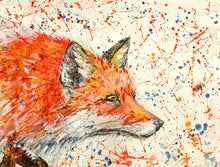 "Original painting ""Fox on the prowl"" - Marily's Art Nest"