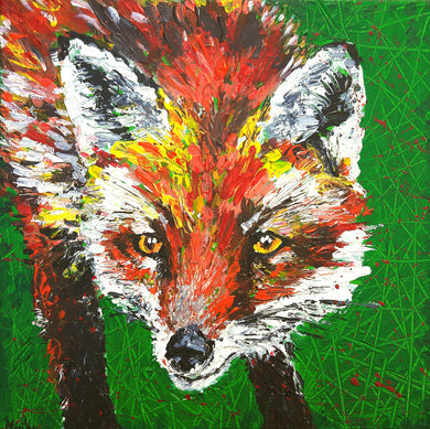 fox,animal,fox painting,wildlife,colourful,textured