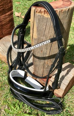 Mono-Crown Bridle with Crystal Browband