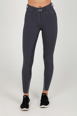 DARK GREY FULL SEAT SILICONE BREECHES