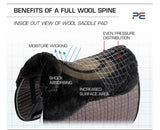 PEI Air -teque Shockproof Saddle Pad with Merino Wool
