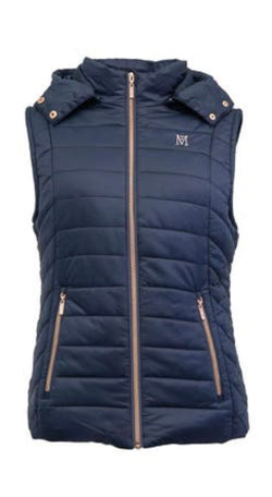 MT Winter Padded Gilet Vest Navy Rose Gold Silver Grey