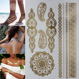 Metallic Henna Tattoos - FREE SHIPPING