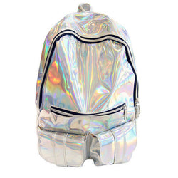 Silver Hologram Backpack - FREE SHIPPING
