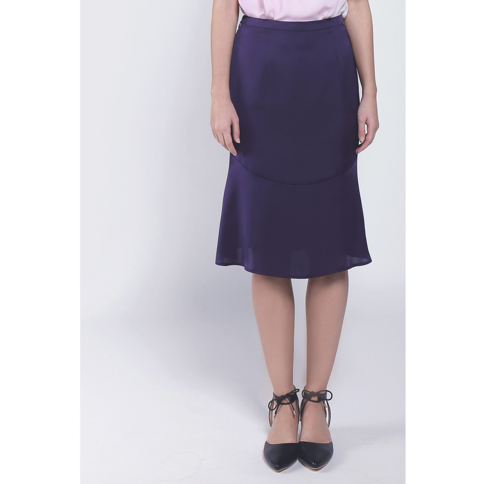 Trumpet elegant purple skirt