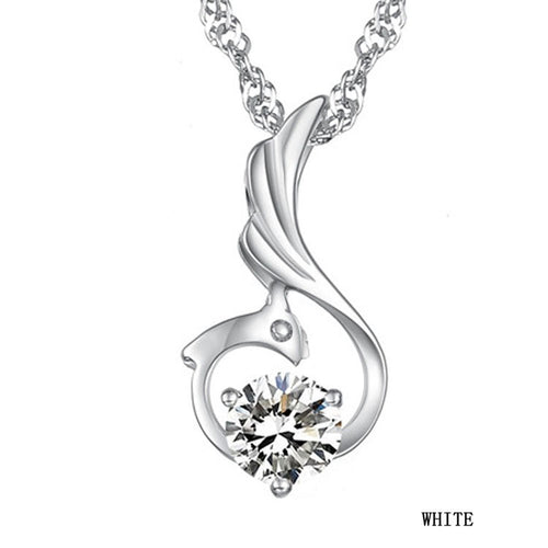 2016 Arrival  Korean Style Female Favourite Romantic Elegant Phoenix Woman Pendant Necklace Charming Jewelery