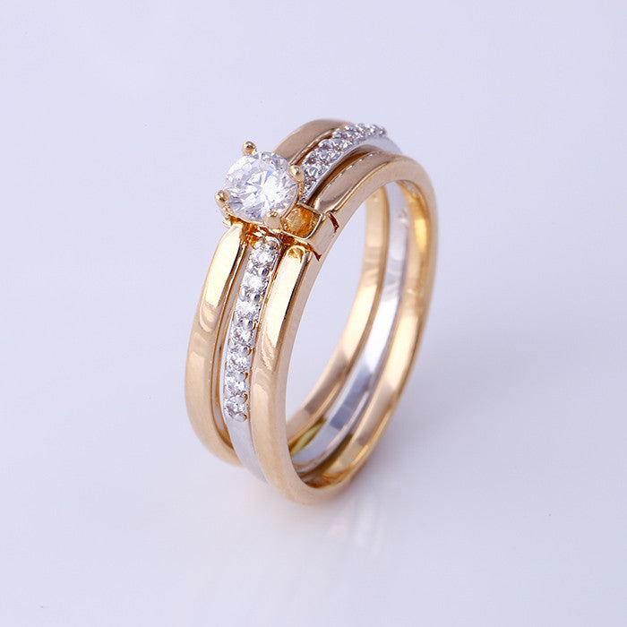 Xuping Fashion Ring For Women Wedding Multicolor Gold Plated Synthetic CZ American Style Top Quality Jewelery Gift S22-11901