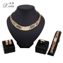 2017 New Fashion Women Wedding Bridal Accessories Party Gold Plated African Beads Costume Jewelery Sets