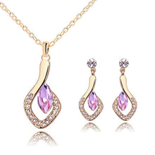 New Fashion Party jewelery sets for women Silver color small crystal Rhinestone necklace pendant earring Jewelry sets of african