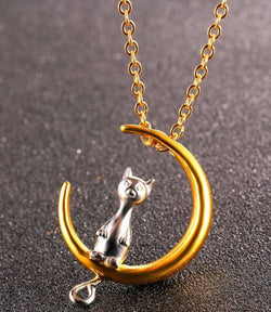 #2217 Collier chat sur la lune