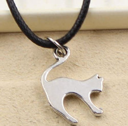 #2221 collier chat gros dos