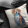 Beagle Pillow Cover Only One Sided Print, No Insert Included, No Home is Complete Without a Beagle,