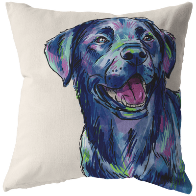 Black Lab Pillow Cover Only, One Sided Print, No Insert Included, No Home is Complete Without a Lab, Lab Mom, Labrador Gifts, Labrador Christmas,