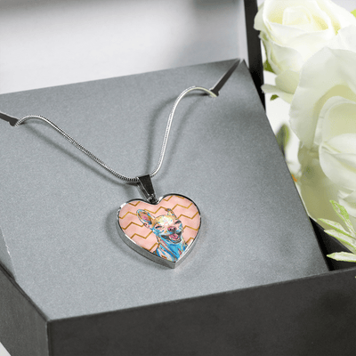 Chihuahua Heart Pendant Necklace