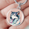 Siberian Husky Charm Necklace