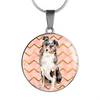Australian Shepherd Circle Necklace