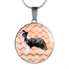 Border Collie Circle Shaped Necklace