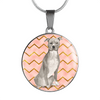American Staffordshire Terrier Gray Circle Shaped Necklace