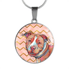 Pitbull Circle Charm Necklace