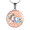 Pitbull & Boy Circle Charm Necklace