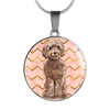 Cockapoo Circle Shaped Necklace