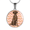 Brown Labrador Retriever Circle Shaped Necklace