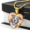 american staffordshire terrier heart necklace