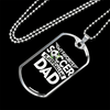 "Personalized Jewelry Dog Tag Stainless Steel or 18k Gold Plating ""My Favorite Soccer Player Calls Me Dad"""