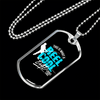 "Personalized Jewelry Dog Tag Stainless Steel or 18k Gold Plating ""This Is What A Reel Cool Dad Looks Like"""