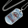 Personalized Jewelry Dog Tag Stainless Steel or 18k Gold Plating P-51 Mustang