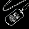 "Personalized Jewelry Dog Tag Stainless Steel or 18k Gold Plating ""Only The Best Dads Get Promoted to Grandpa Est 2018"""