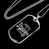 "Personalized Jewelry Dog Tag Stainless Steel or 18k Gold Plating ""Promoted to Grandpa Set 2018"""