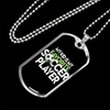"Personalized Jewelry Dog Tag Stainless Steel or 18k Gold Plating ""My Kid Is My Favorite Soccer Player"""