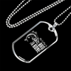 "Personalized Jewelry Dog Tag Stainless Steel or 18k Gold Plating ""My Old Man is Bad To The Bone"""