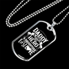 "Personalized Jewelry Dog Tag Stainless Steel or 18k Gold Plating ""Daddy A Son's First Hero A Daughter's First Love"""