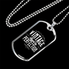 "Personalized Jewelry Dog Tag Stainless Steel or 18k Gold Plating ""Vintage - Aged to Perfection"""