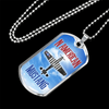 Personalized Jewelry Dog Tag Stainless Steel or 18k Gold Plating North American Mustang