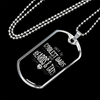 "Personalized Jewelry Dog Tag Stainless Steel or 18k Gold Plating ""Only The Coolest Dads Have Beards & Tats"""