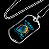 "Personalized Jewelry Dog Tag Stainless Steel or 18k Gold Plating ""To The World You Are A Dad To Our Family You Are The World"""