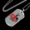 "Personalized Jewelry Dog Tag Stainless Steel or 18k Gold Plating ""Best Buckin' Dad"""
