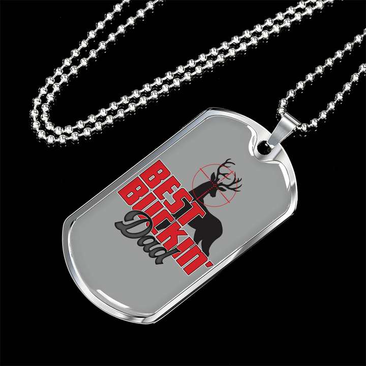 Personalized Jewelry Dog Tag Stainless Steel Or 18k Gold Plating Best Buckin Dad