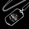"Personalized Jewelry Dog Tag Stainless Steel or 18k Gold Plating ""New Daddy Est 2018 Rookie Dept"""