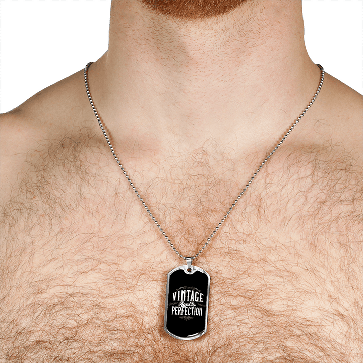 Personalized Jewelry Dog Tag Stainless Steel or 18k Gold Plating