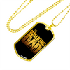"Personalized Jewelry Dog Tag Stainless Steel or 18k Gold Plating ""The Walking Dad"""