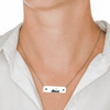 Auckland Skyline Horizontal Bar Necklace