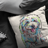 Bichon Frise Pillow Cover Only One Sided Print, No Insert Included, No Home is Complete Without a Bichon Frise,